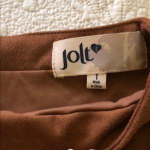 """Jolt Skirts - Jolt """"suede"""" tan skirt"""